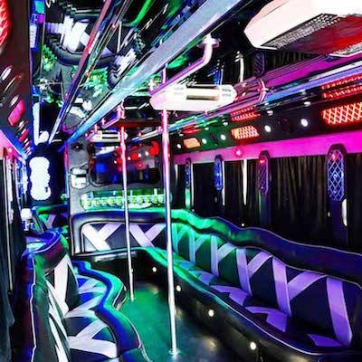 VIP Bus Dance Poles