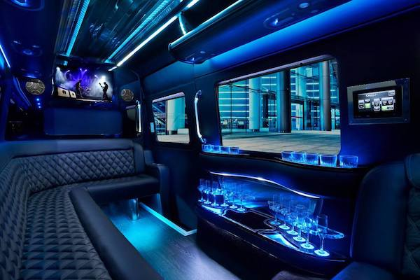 Party Bus LA Interior